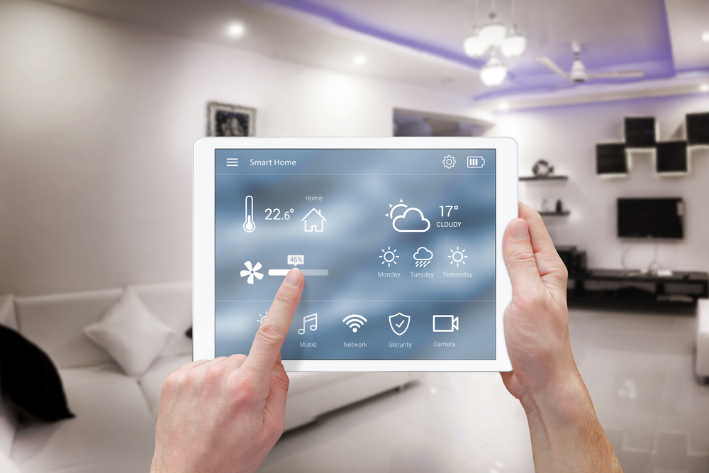 controlling smart home from tablet